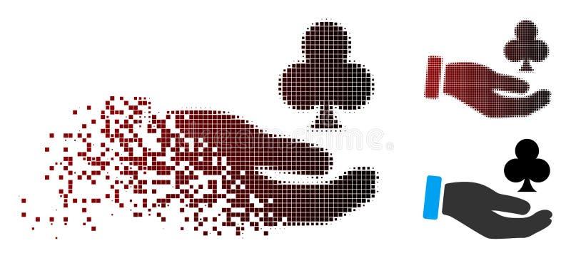 闪闪发光Pixelated半音副主持人手象 库存例证