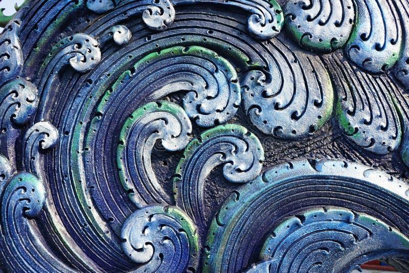 闭合五颜六色的波浪具体灰泥设计 免版税库存图片