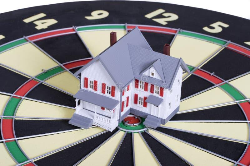 闭合值的房子目标 免版税库存图片
