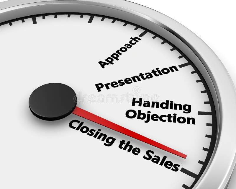 闭合值的销售额 向量例证