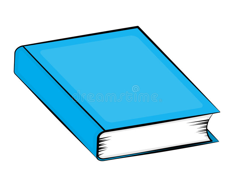 闭合的书籍动画片传染媒介标志象设计 美好的illustr 库存例证