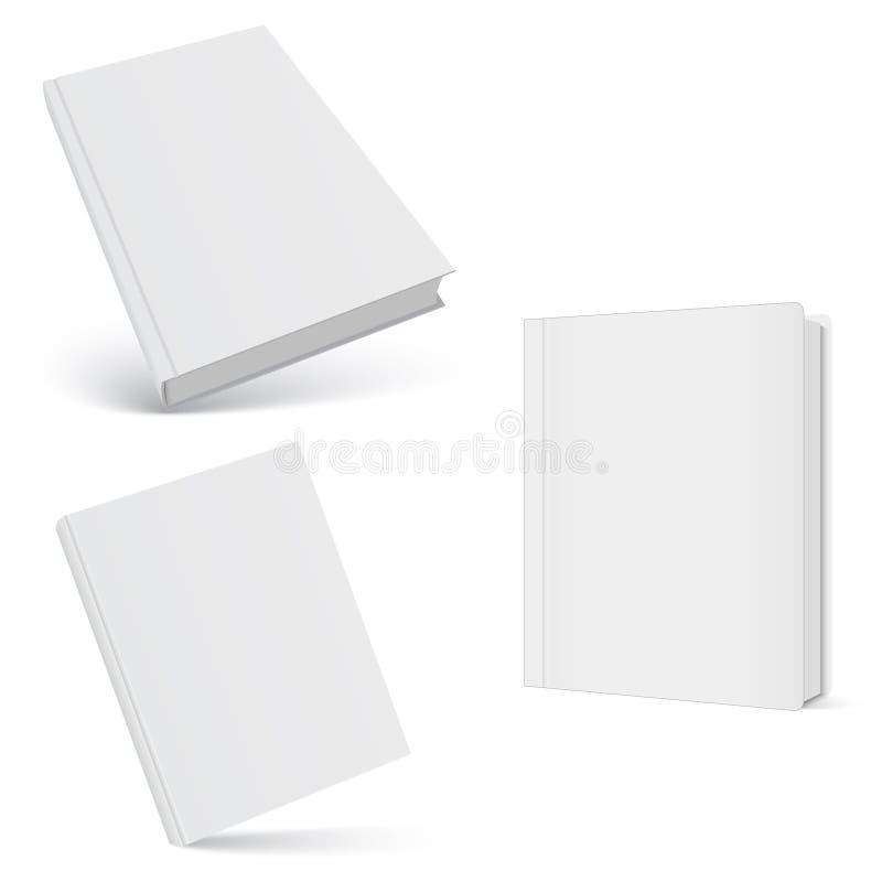 闭合的书籍,盖子 盖子设计的大模型 高细节 背景查出的白色 皇族释放例证
