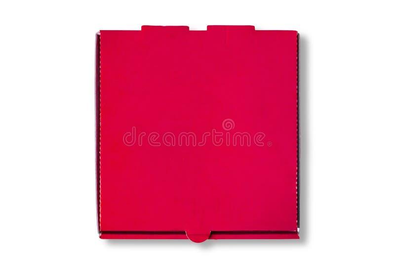 闭合的在白色的薄饼箱子顶视图 免版税库存图片