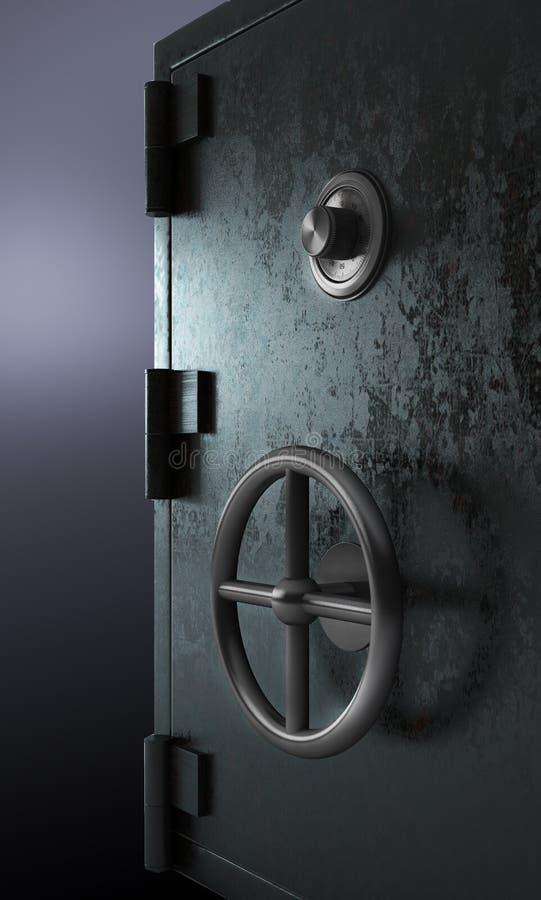 闭合的安全保险柜 向量例证