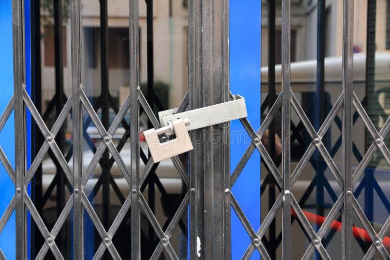 闭合的挂锁界面 免版税库存图片