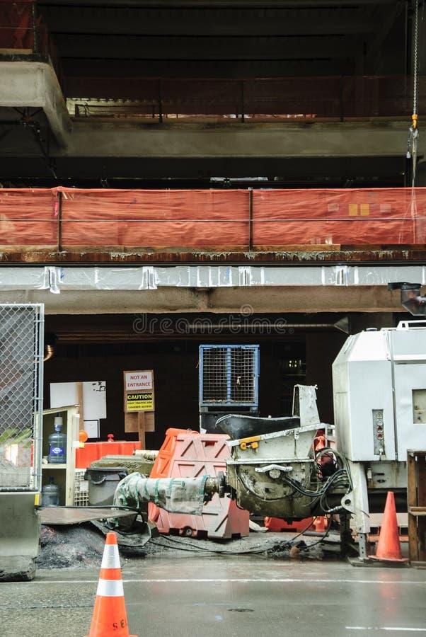 闭合的无担保的建造场所西雅图Wa 库存图片