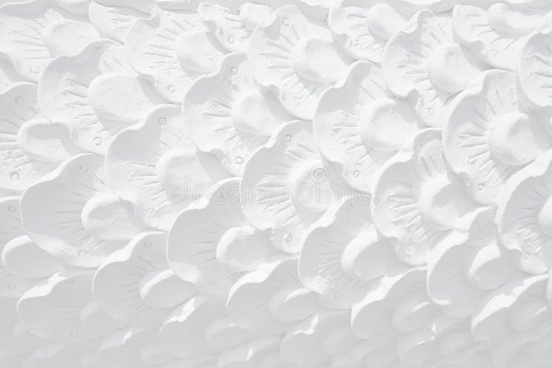 闭合的白色泰国艺术葡萄酒具体灰泥设计  免版税图库摄影