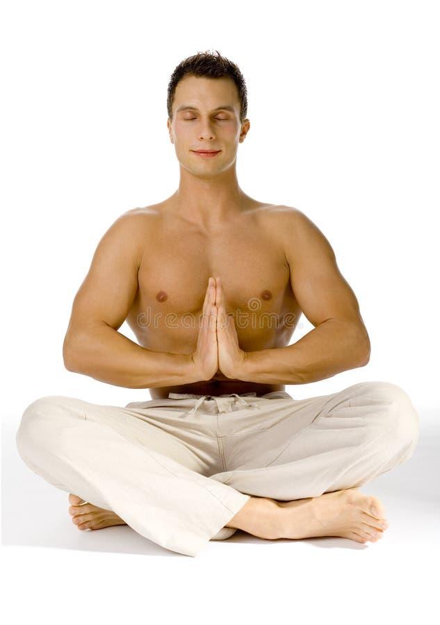 闭合的眼睛健康生活方式瑜伽 免版税库存图片