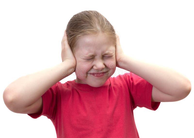 闭合的耳朵女孩现有量有 库存图片