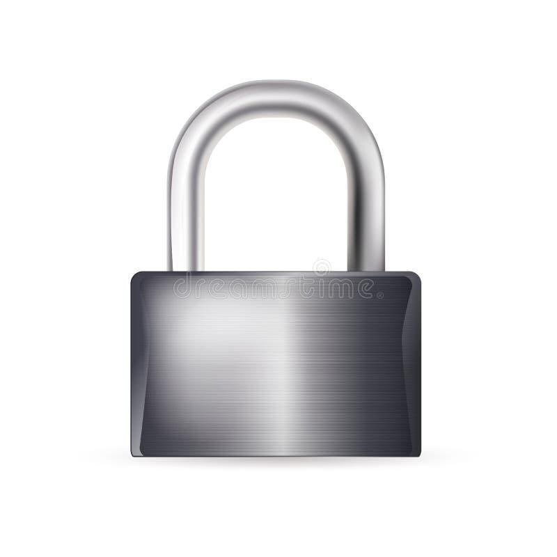 闭合的锁 库存例证