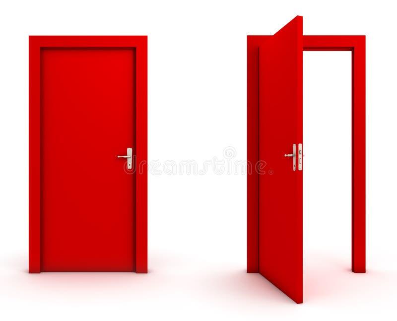 闭合的门开张 向量例证