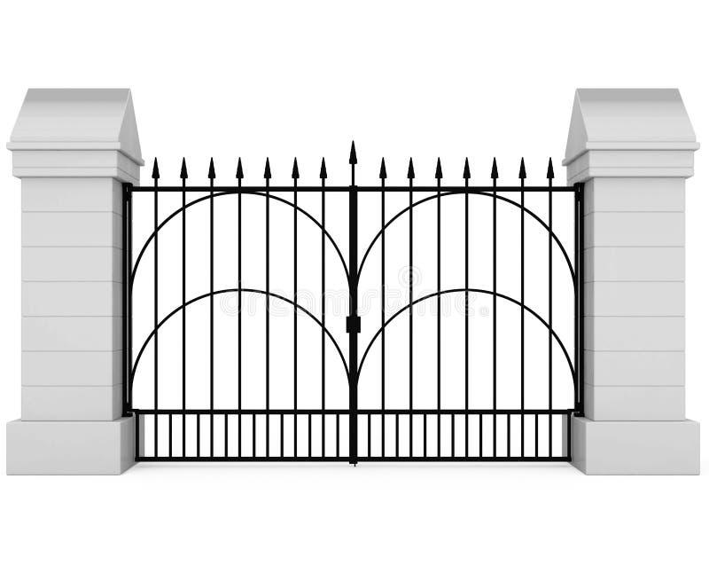 闭合的门铁 皇族释放例证