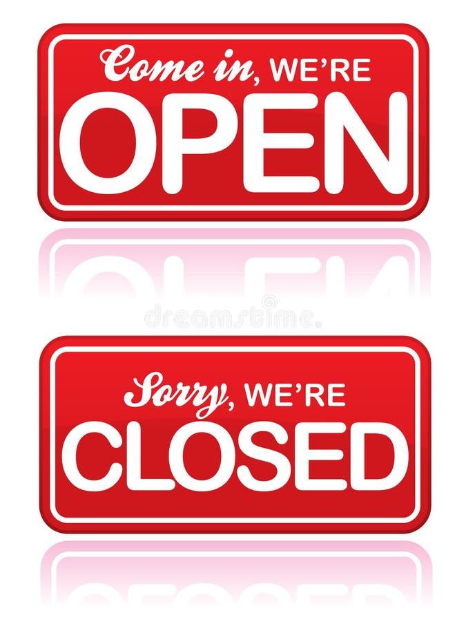 闭合的eps开放符号 库存例证