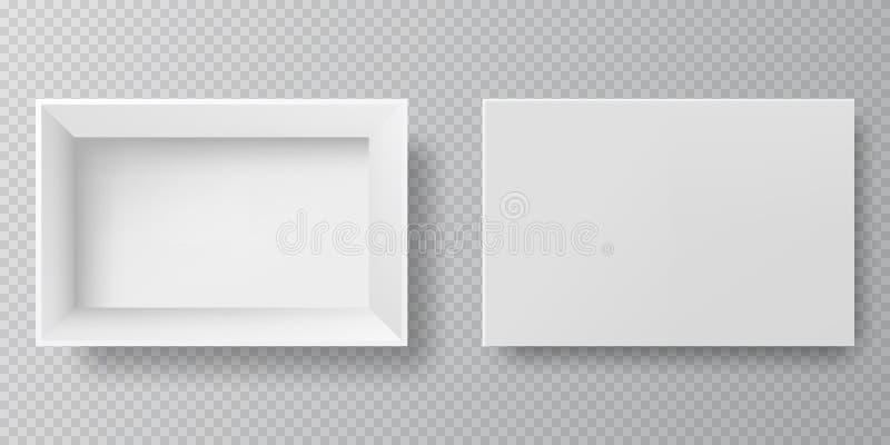 闭合空白的包装的箱子-开放和 向量例证