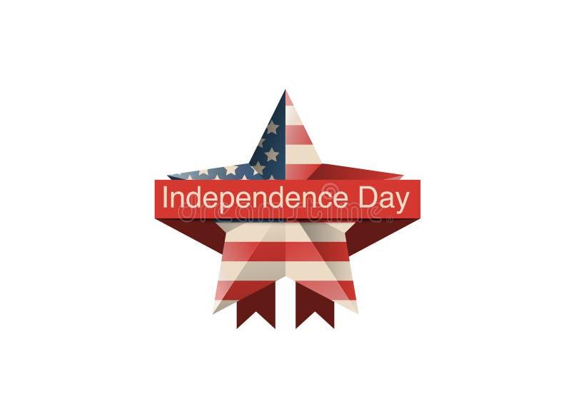 问候7月第4,团结的陈述的独立日 美国独立纪念日印刷设计 能用当贺卡,横幅, backgrou 皇族释放例证