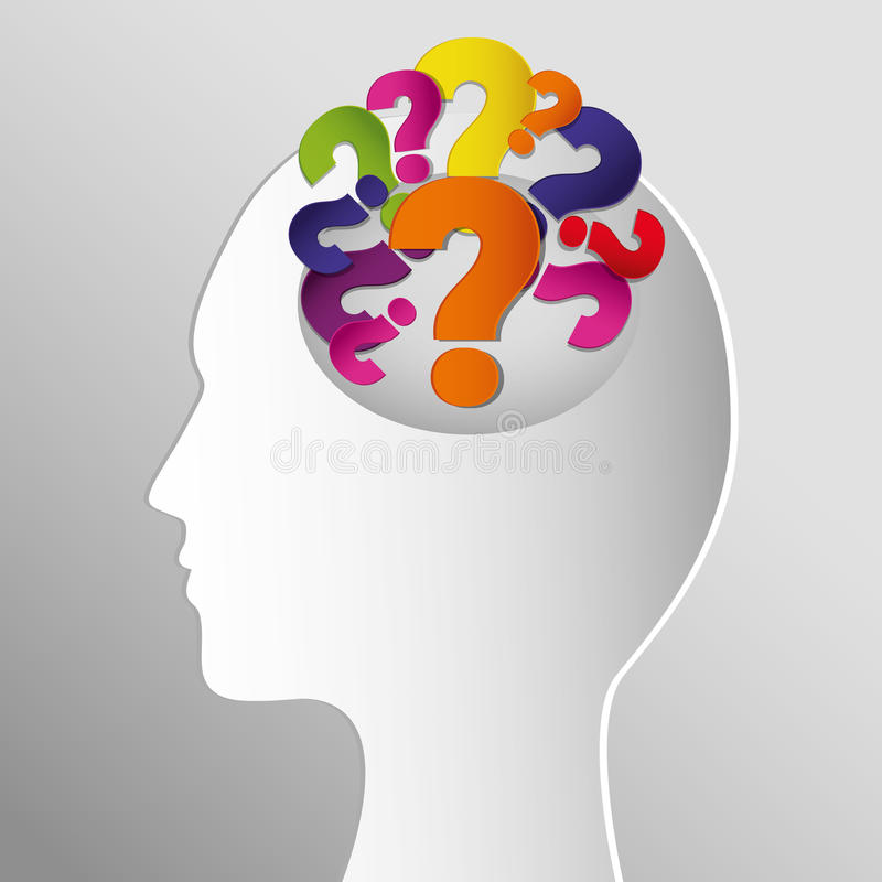问号和解答 向量例证