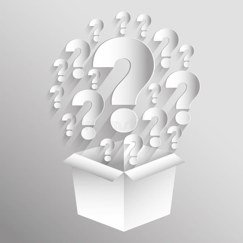 问号和解答 库存例证