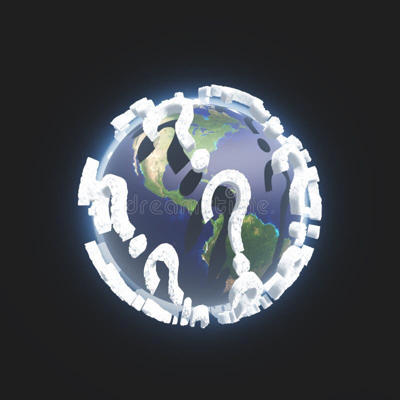 问号地球 皇族释放例证