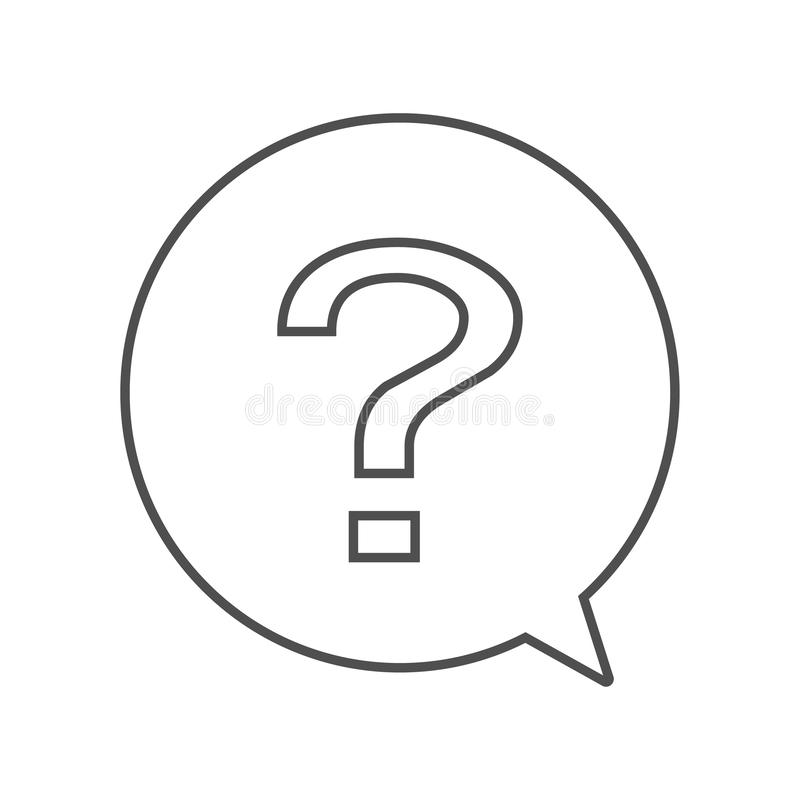 问题在圈子闲谈标志传染媒介eps10的概述象 在圈子的问题注意 向量例证