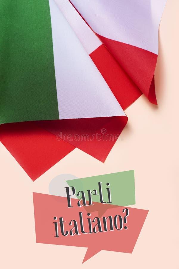 问题您是否讲意大利语?用意大利语 图库摄影