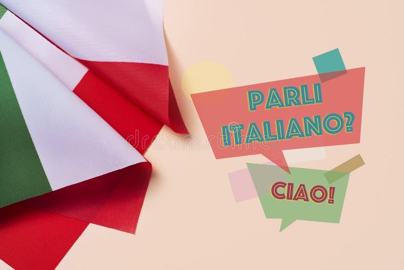 问题您是否讲意大利语?用意大利语 免版税库存照片