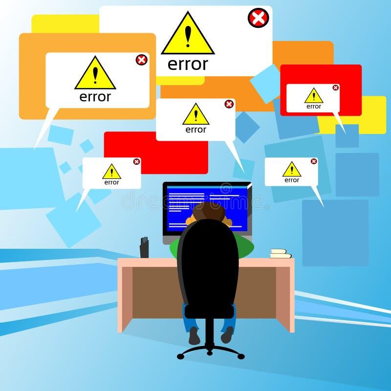 问题计算机应用软件错误开发商 向量例证