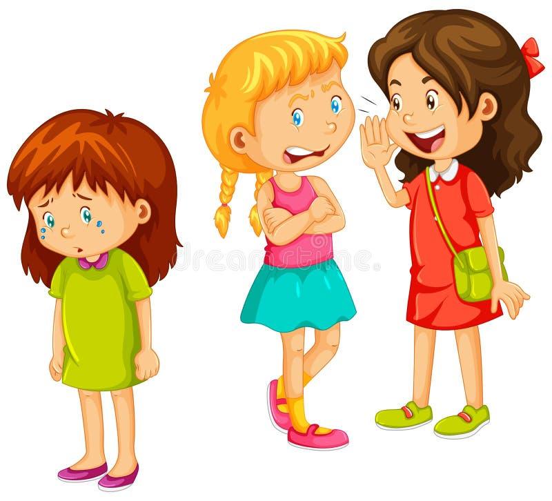 说闲话的女孩其他朋友 向量例证