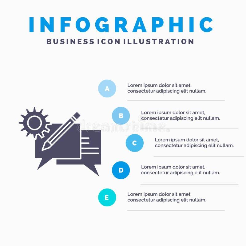 闲谈、通信、讨论、设置、消息Infographics模板网站的和介绍 r 皇族释放例证