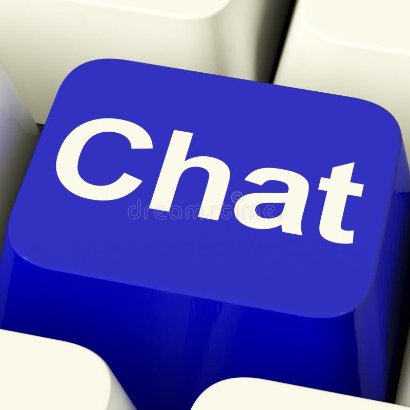 闲谈字计算机关键代表的谈话或发短信 皇族释放例证