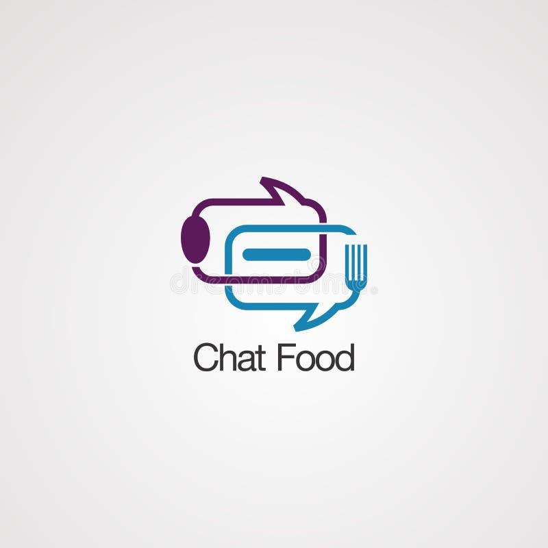 闲谈泡影食物商标传染媒介、象、元素和模板公司的 向量例证