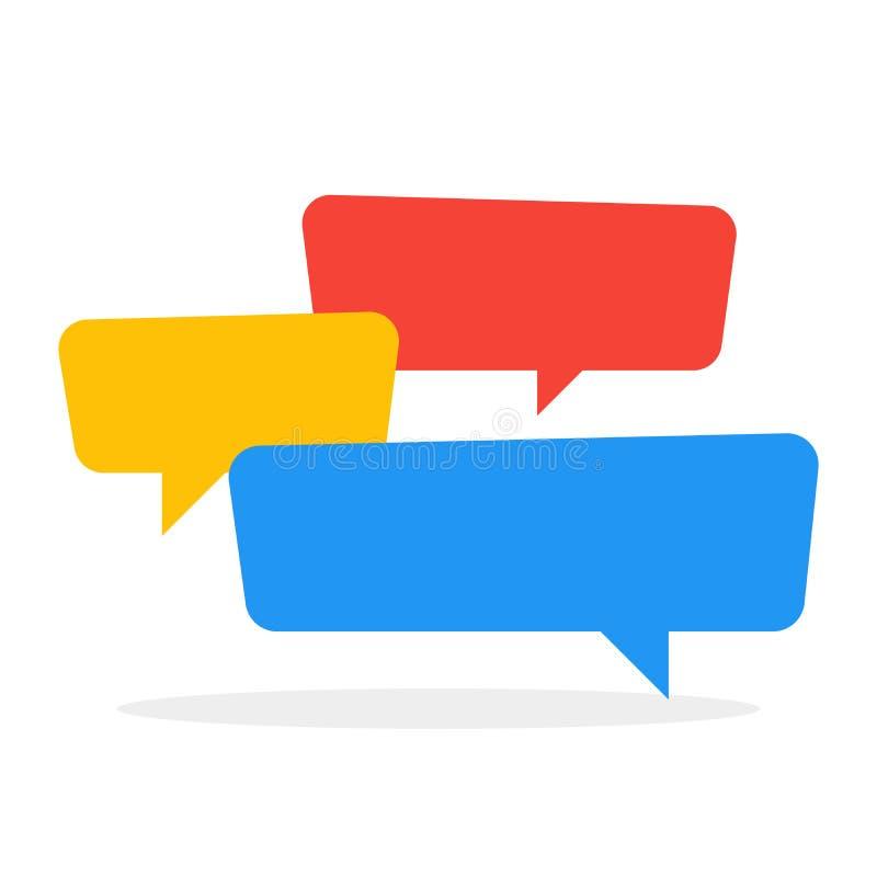 闲谈象颜色在交谈的讲话泡影 也corel凹道例证向量 向量例证