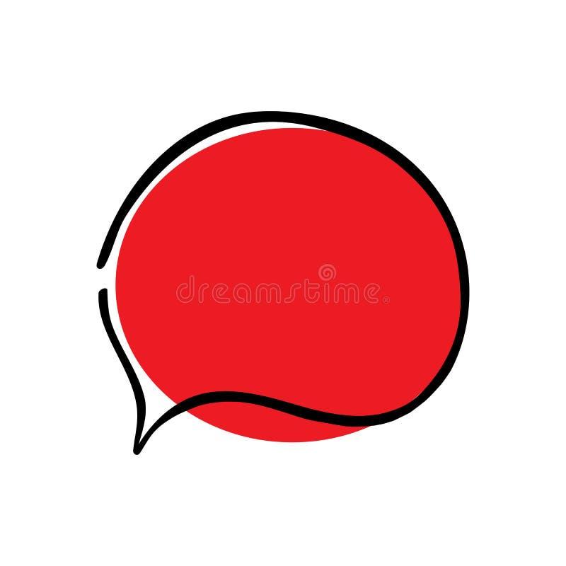 闲谈象 泡影图象人员演讲联系的向量 免版税库存照片