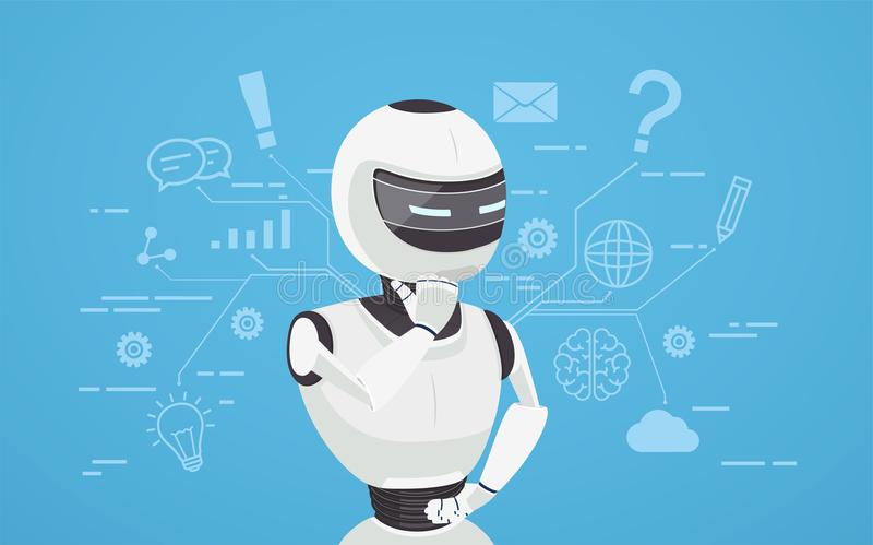 闲谈马胃蝇蛆认为,真正机器人协助 库存例证