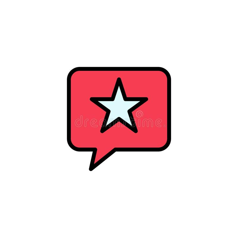 闲谈,喜爱,消息,星企业商标模板 o 皇族释放例证