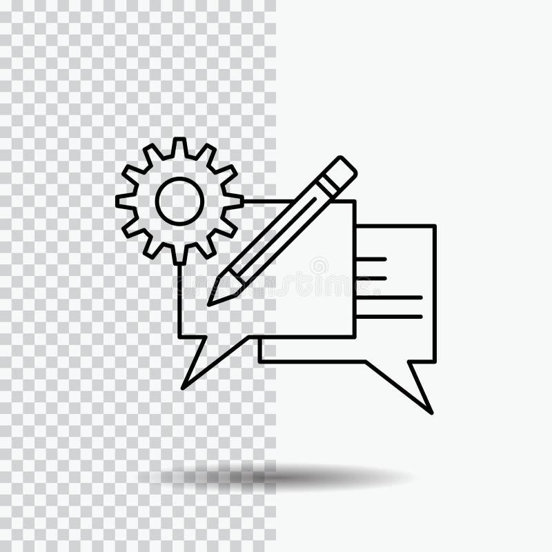 闲谈,通信,讨论,设置,在透明背景的消息行象 r 向量例证