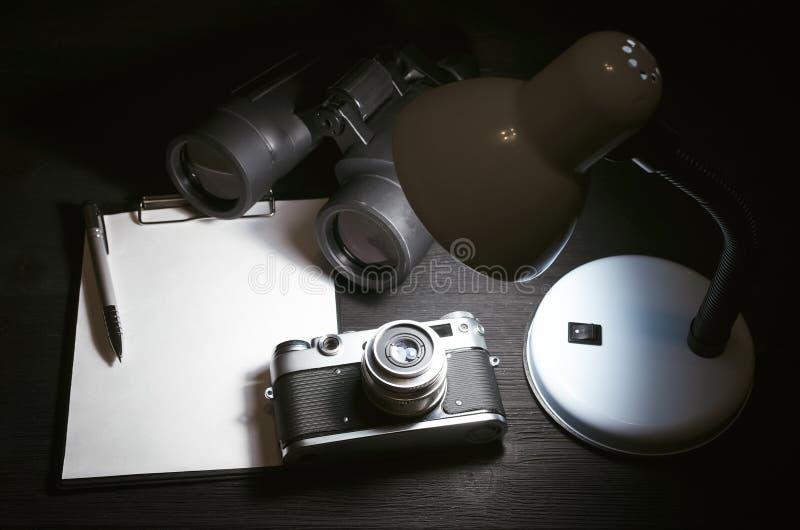 间谍桌 库存图片