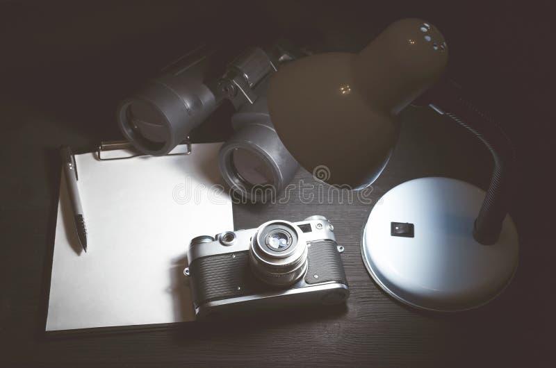 间谍桌 免版税库存照片