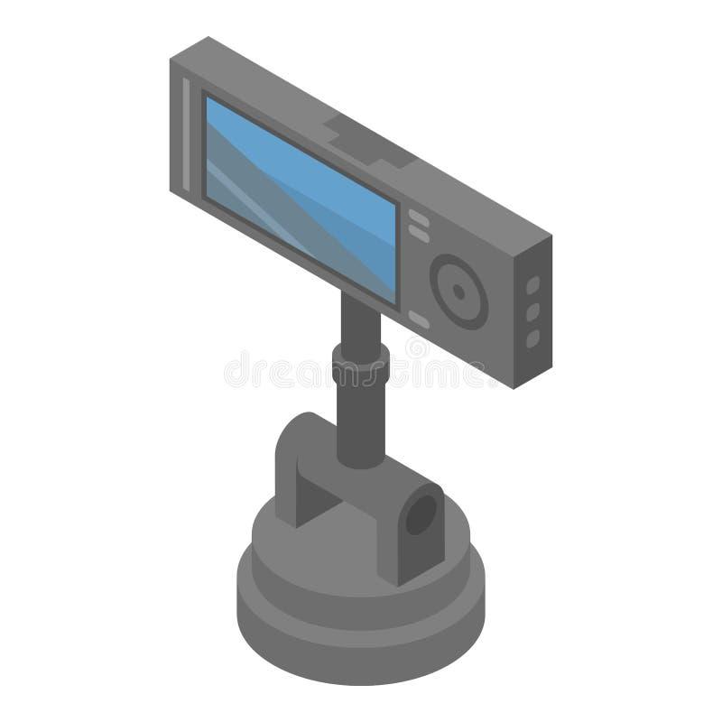 间谍汽车照相机象,等量样式 库存例证