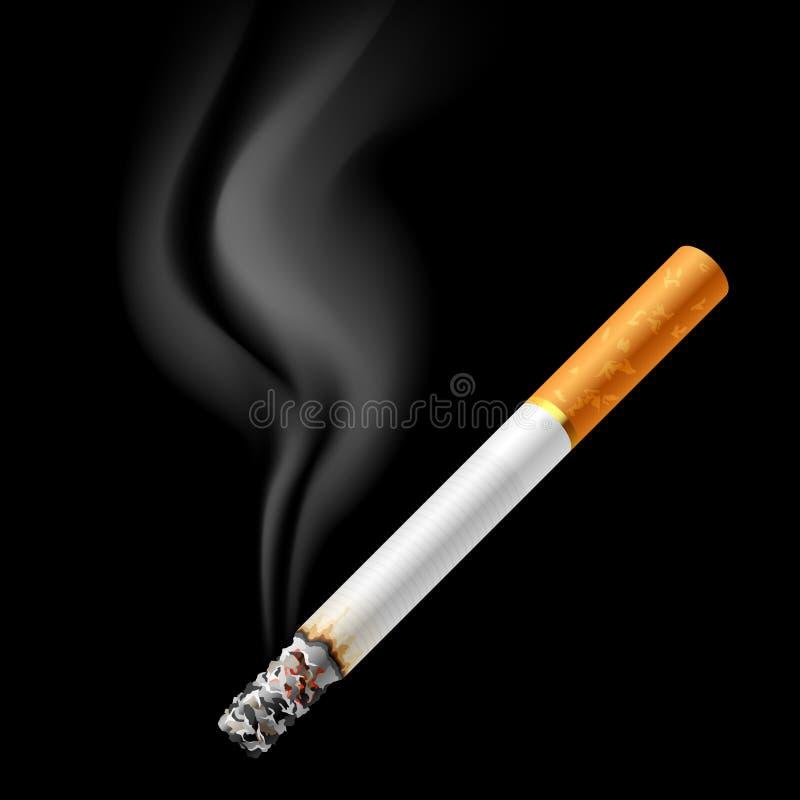 闷燃的香烟 库存例证
