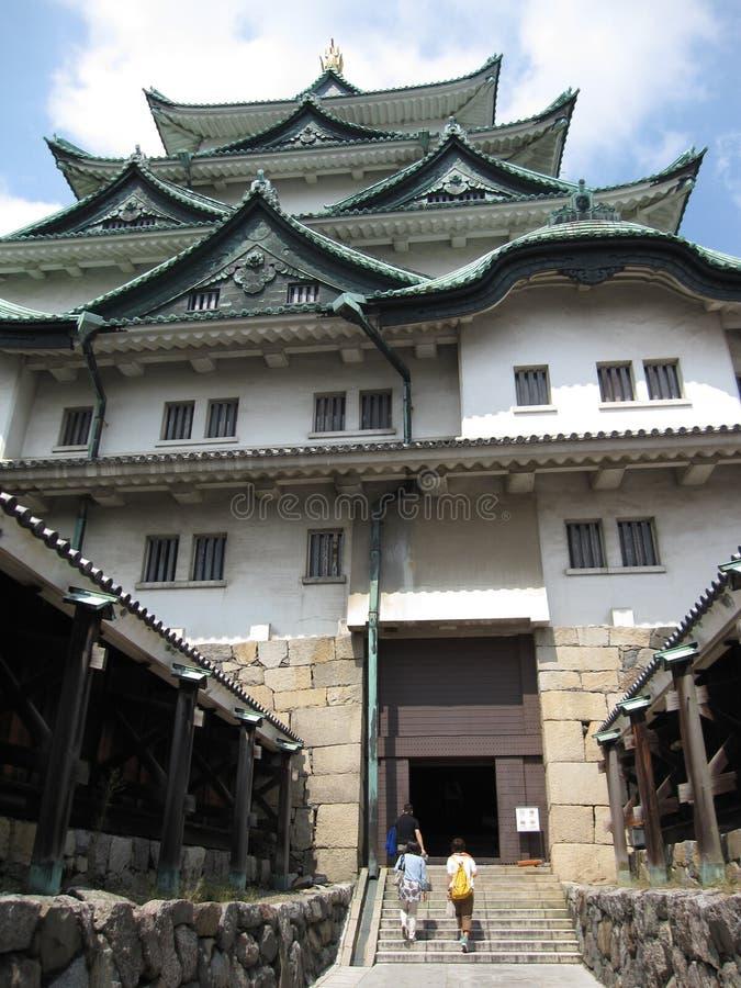主闸大阪城堡的入口视图 库存照片