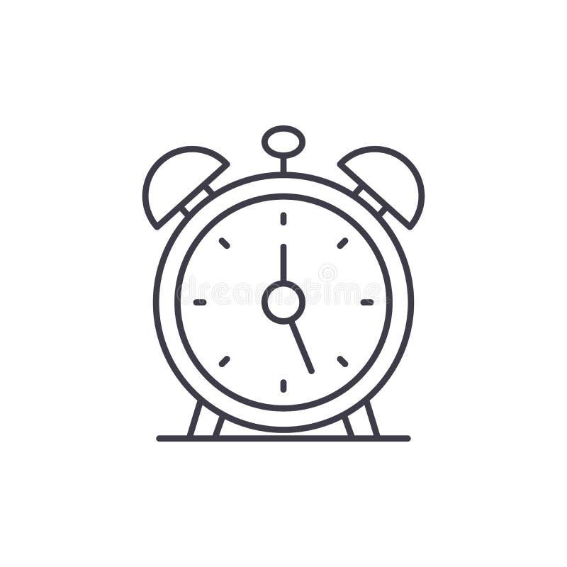 闹钟线象概念 闹钟传染媒介线性例证,标志,标志 库存例证