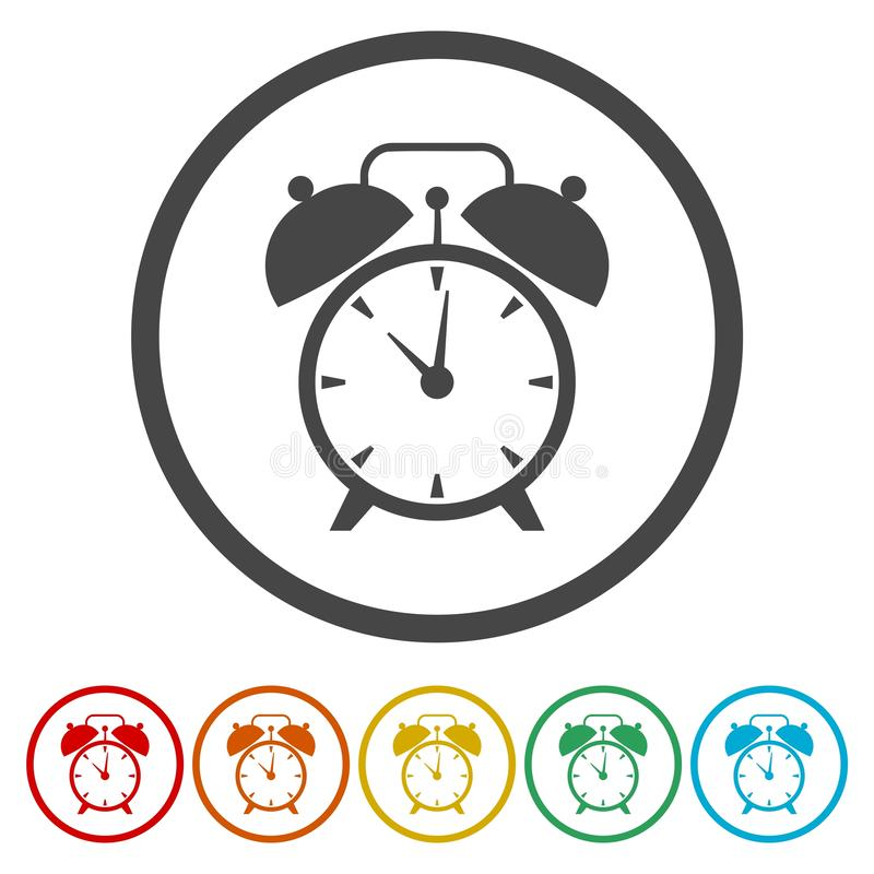 闹钟,唤醒的时间 向量例证