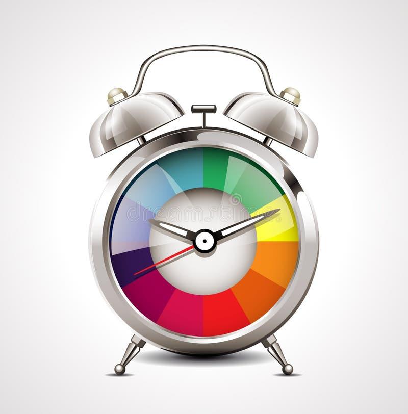 闹钟-时间安排 向量例证