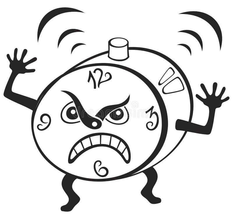 闹钟 向量例证