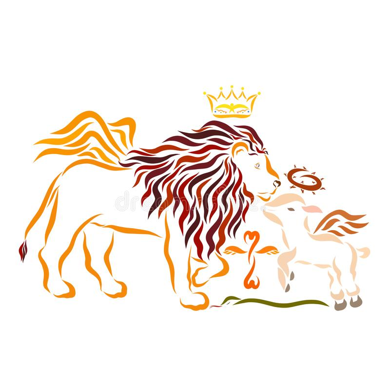 阁下耶稣基督,使命的救主,胜利的雍容 向量例证