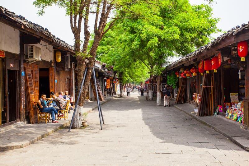 阆中风景老镇  免版税库存图片