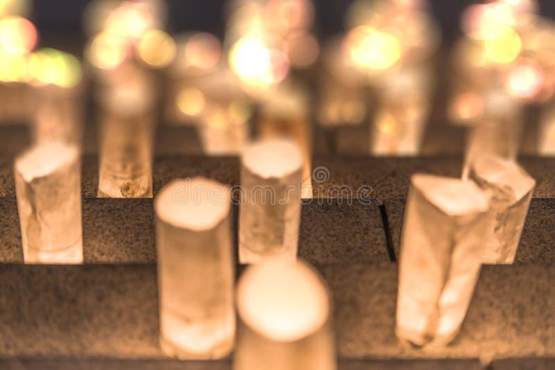 阐明Zojoji tem的步的手工纸灯笼 库存照片