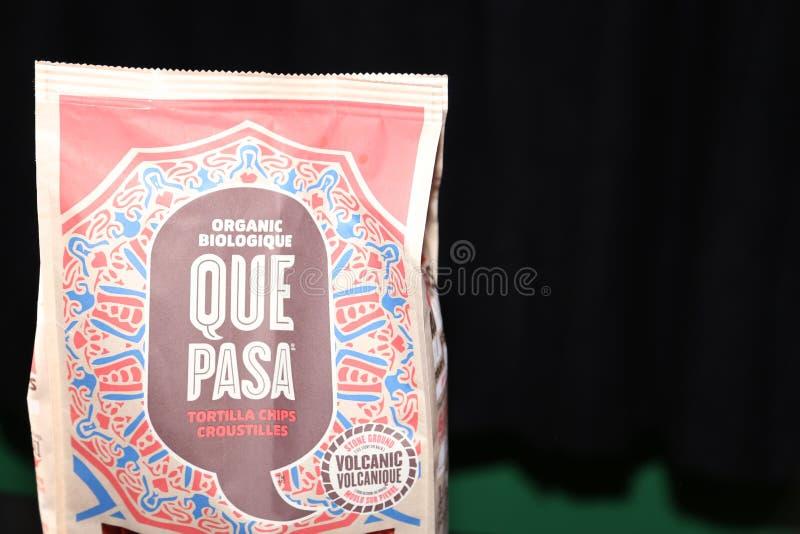 阙帕沙食物有机玉米粉薄烙饼芯片 免版税库存照片