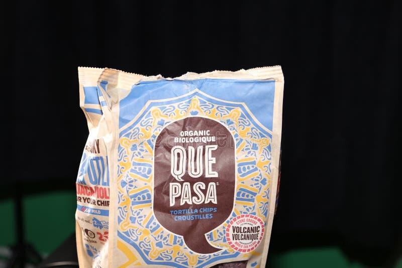 阙帕沙食物蓝色玉米粉薄烙饼芯片 免版税图库摄影