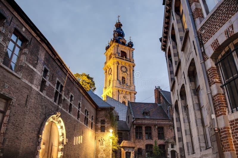 阜钟楼在比利时 库存照片